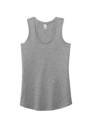 Grey Ladies Racerback Tank w/Neon Green Logo