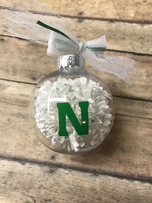 Nordonia Ornament - with Crinkle Snow